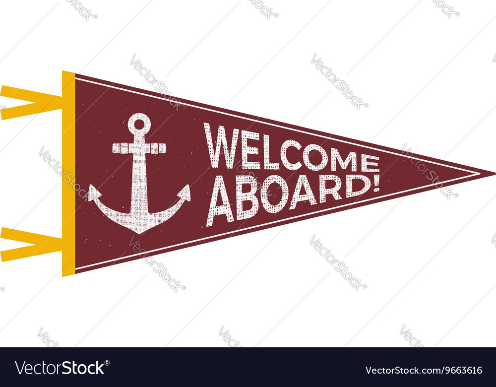 Nautical pennant design sailor emblem