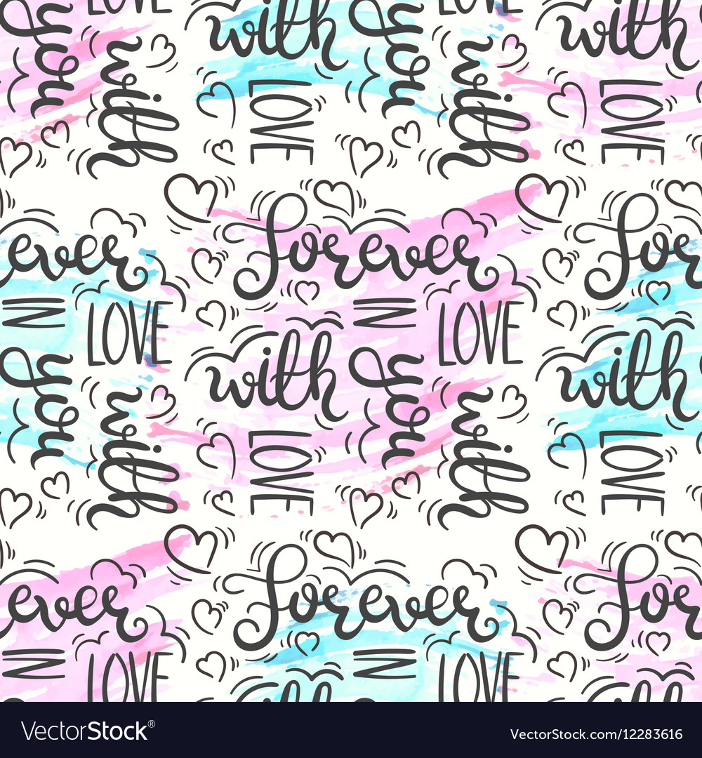 r tic quote seamless pattern love text print vector image