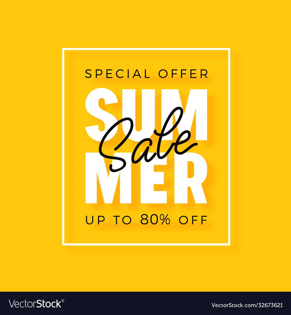 Bright modern summer sale banner for advertising