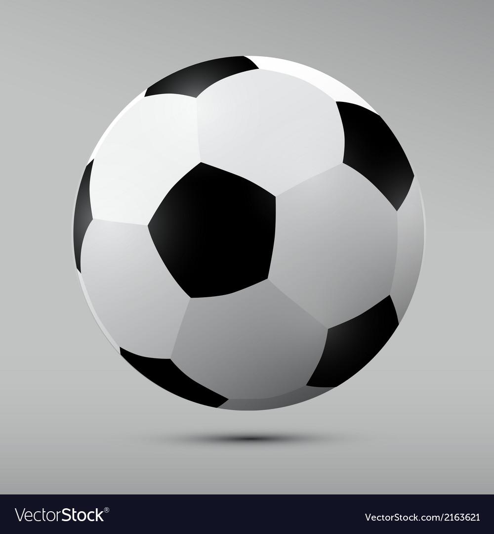 Football Black and White Ball