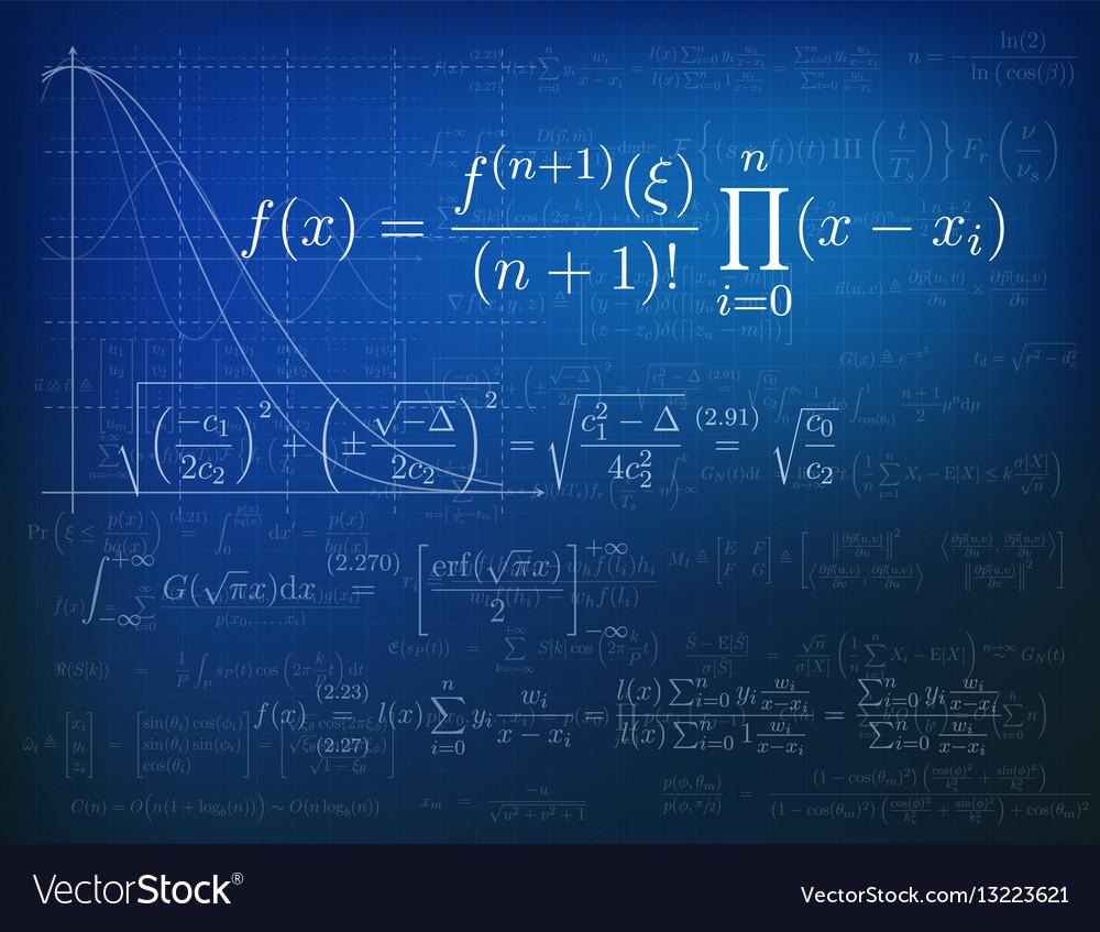 Mathematics Background Royalty Free Vector Image