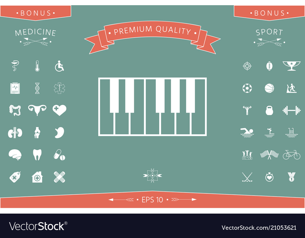 Piano Keyboard Icon Royalty Free Vector Image Vectorstock