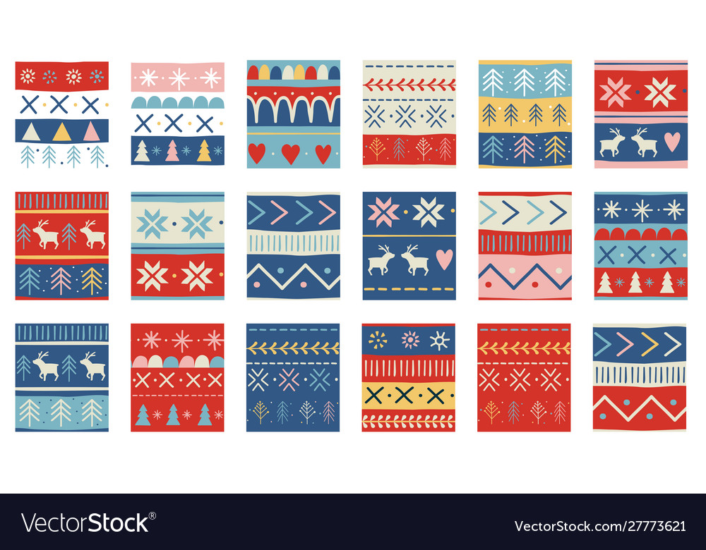 Seamless christmas patterns design in