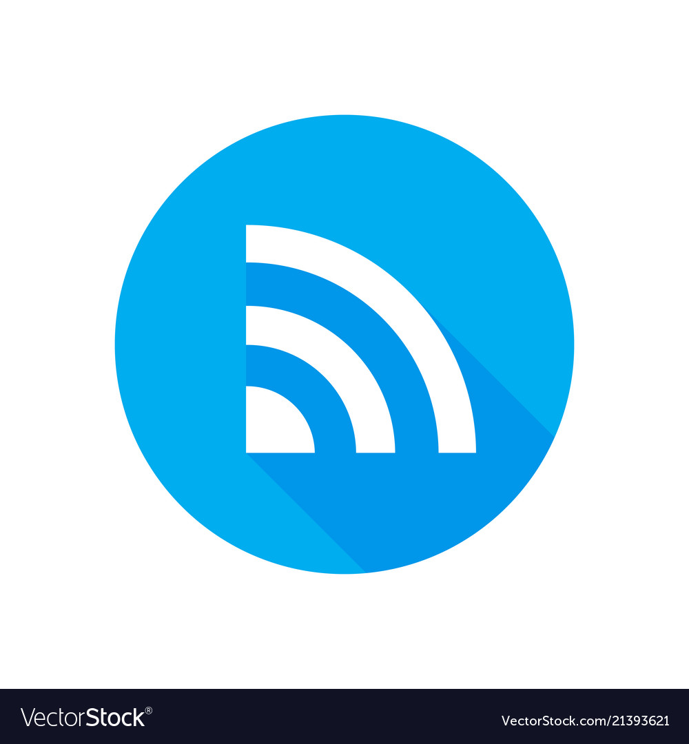 Wifi Icon Flat Network Sign Or Symbol For Vector Image