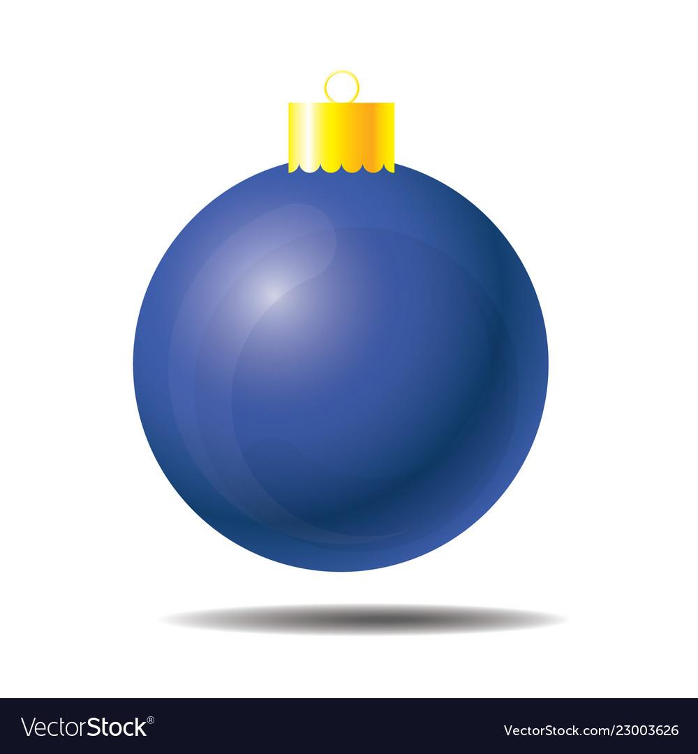 Blue christmas ball 01