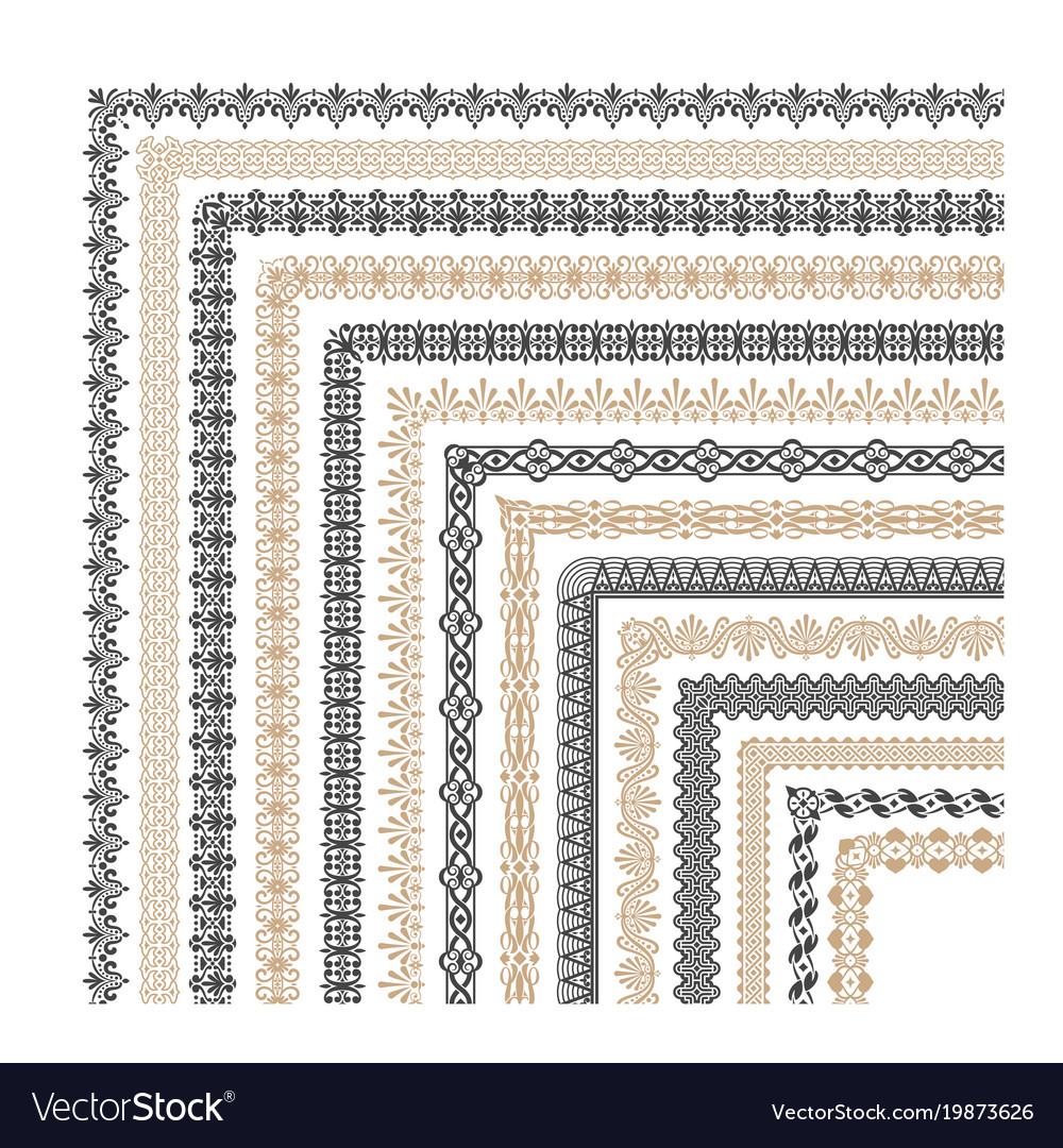 Coptic ornament frame border corners
