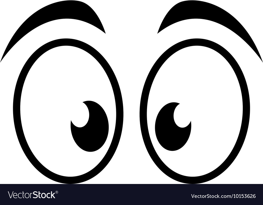Eye surprised look vision optical icon Royalty Free Vector