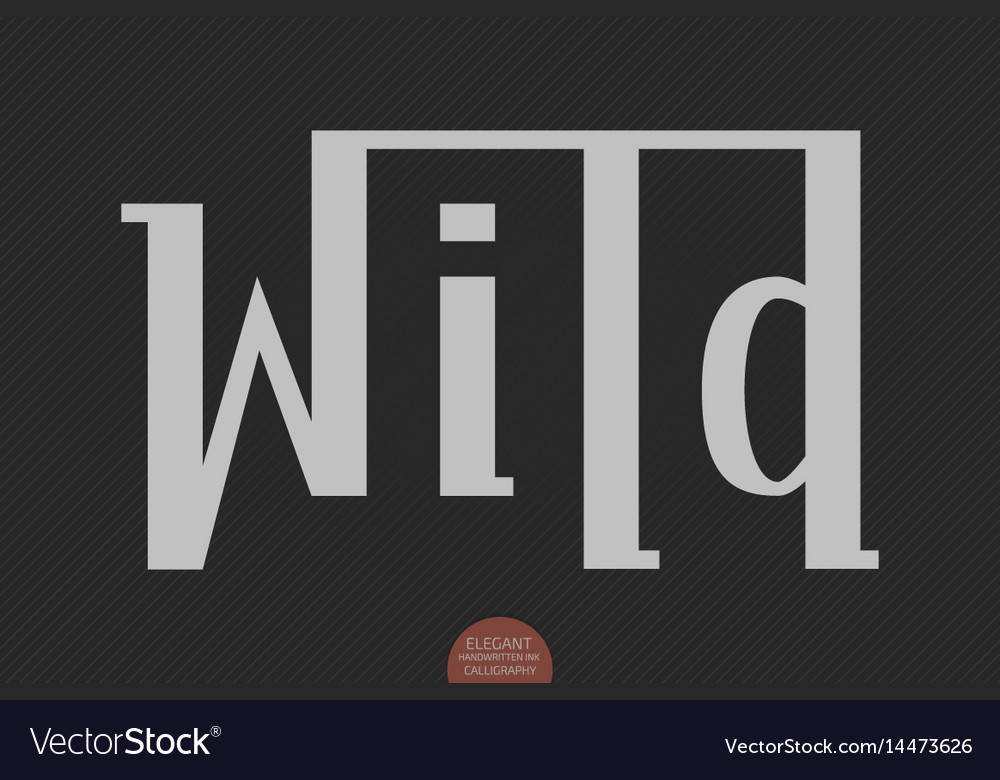 Hand drawn lettering - wild elegant modern vector image