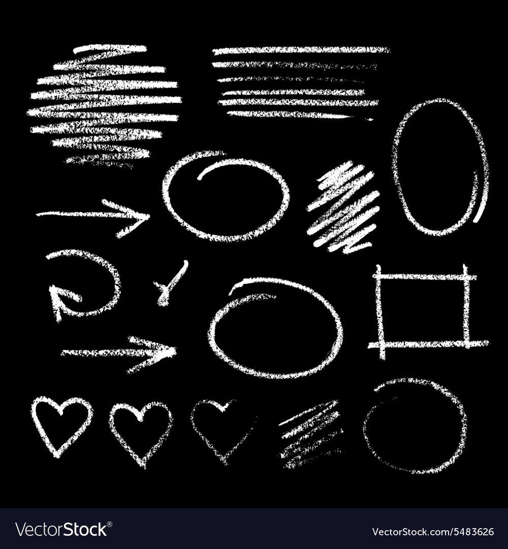 Handdrawn chalk sketch vector image