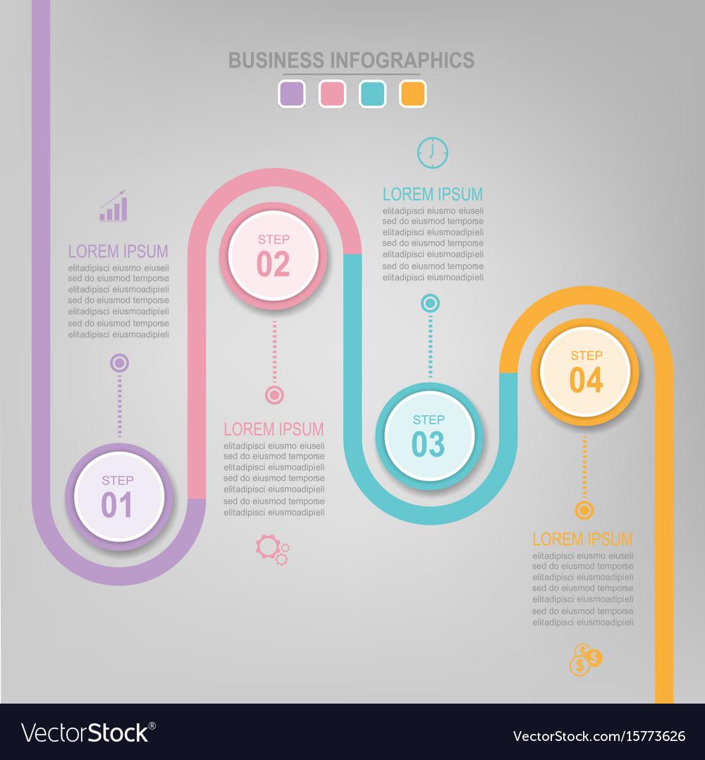 Infographic of circle element flat design