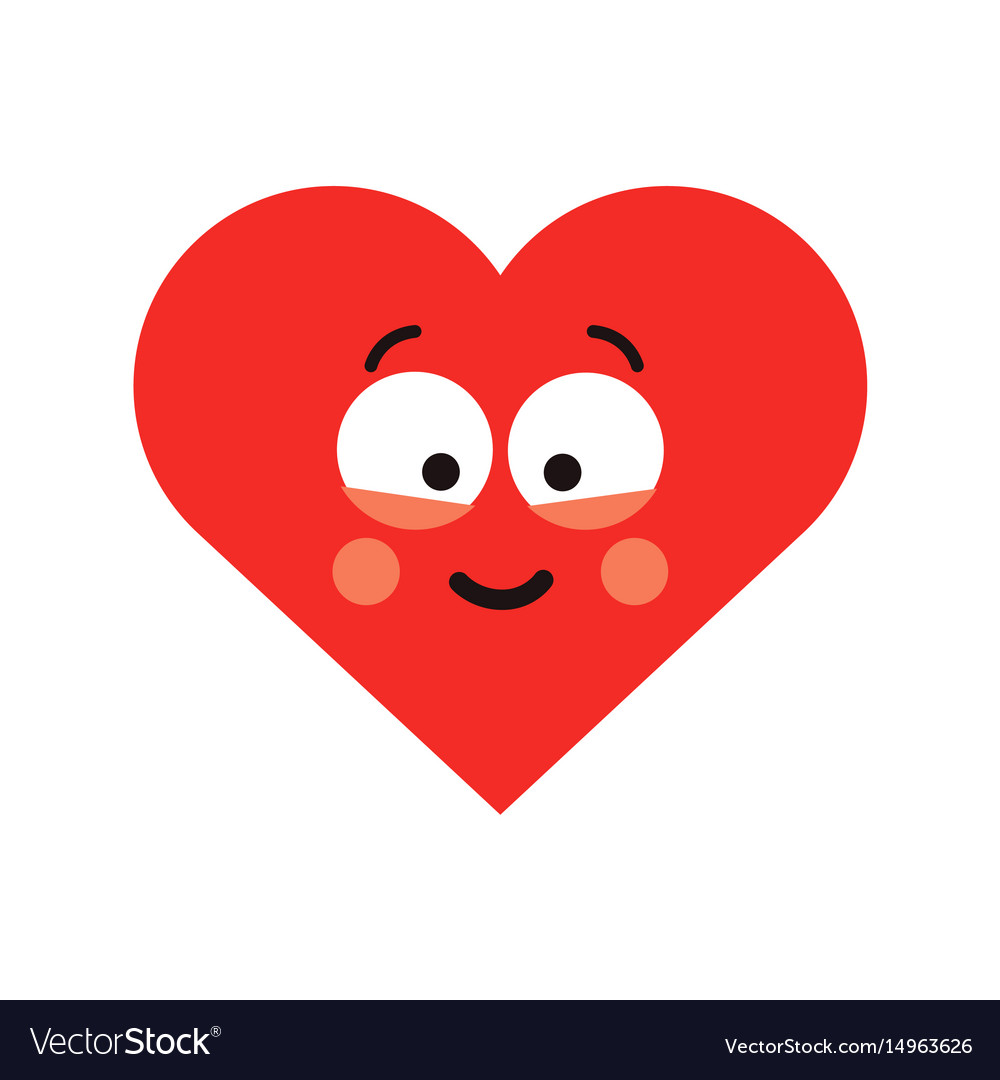 Red happy smiling heart