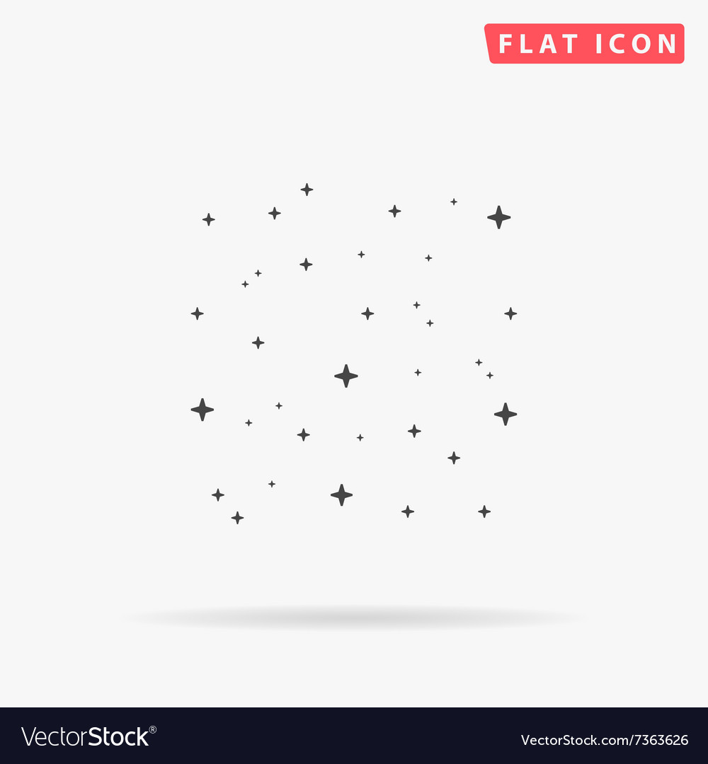 Stars simple flat icon vector image