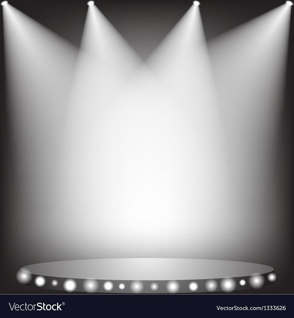 White spotlights vector image