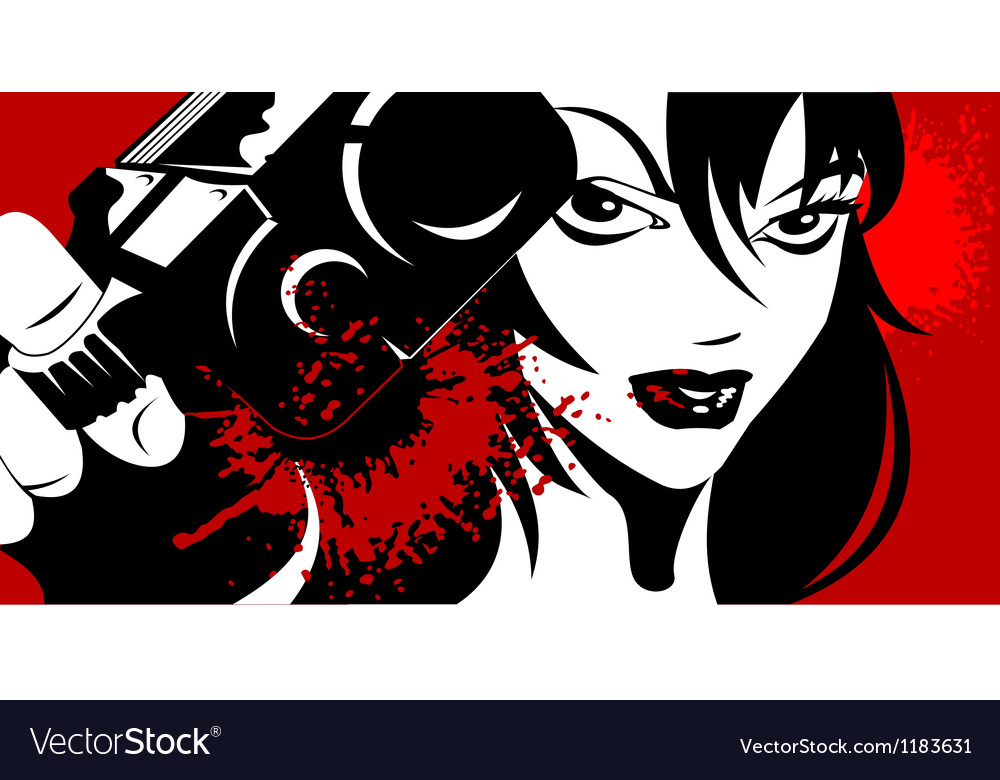 Beauty Killer vector image