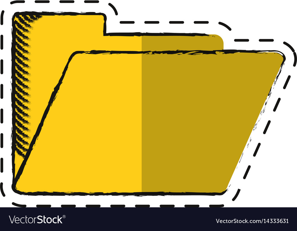 Cartoon folder file document archive icon