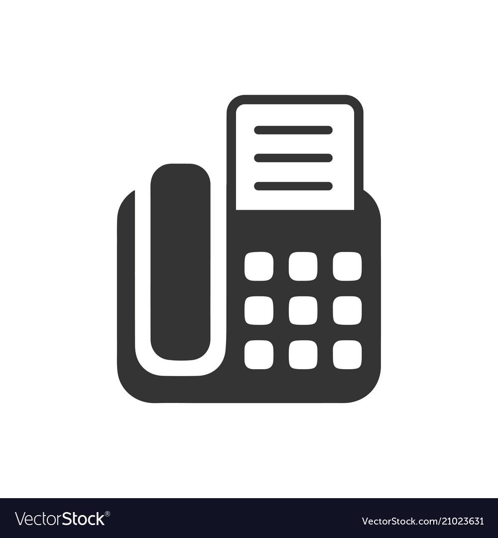 fax machine icon royalty free vector image vectorstock vectorstock