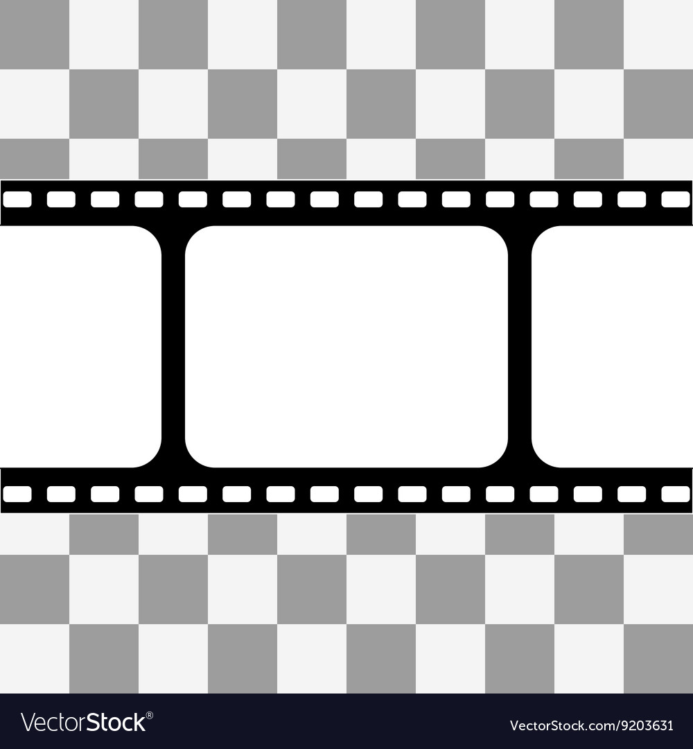 Film strip with space for your text vector image