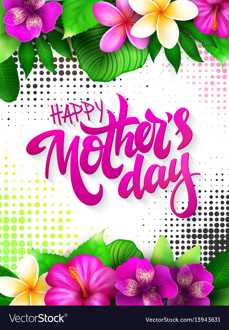 Mothers day greetings card with hand