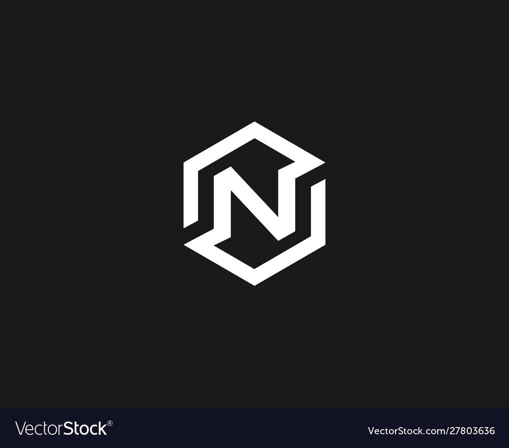 Abstract letter n logo icon design modern