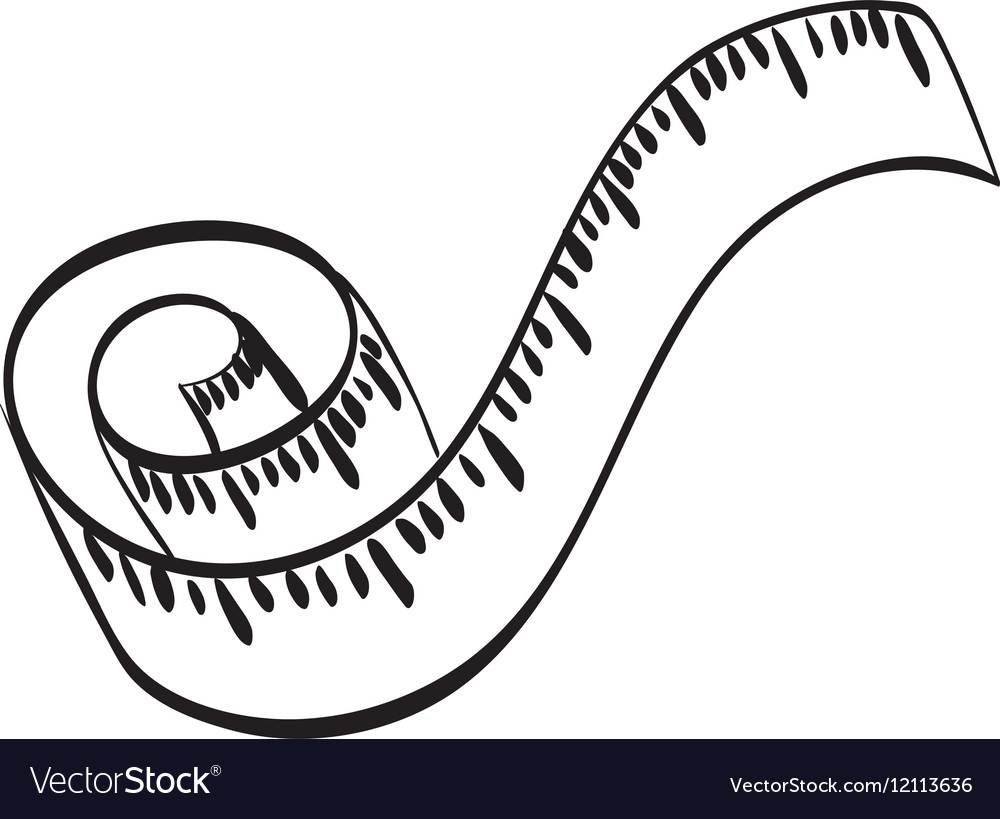 Body weight tape vector image