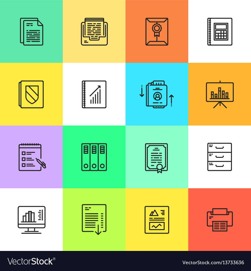 Business documents finance simple icon