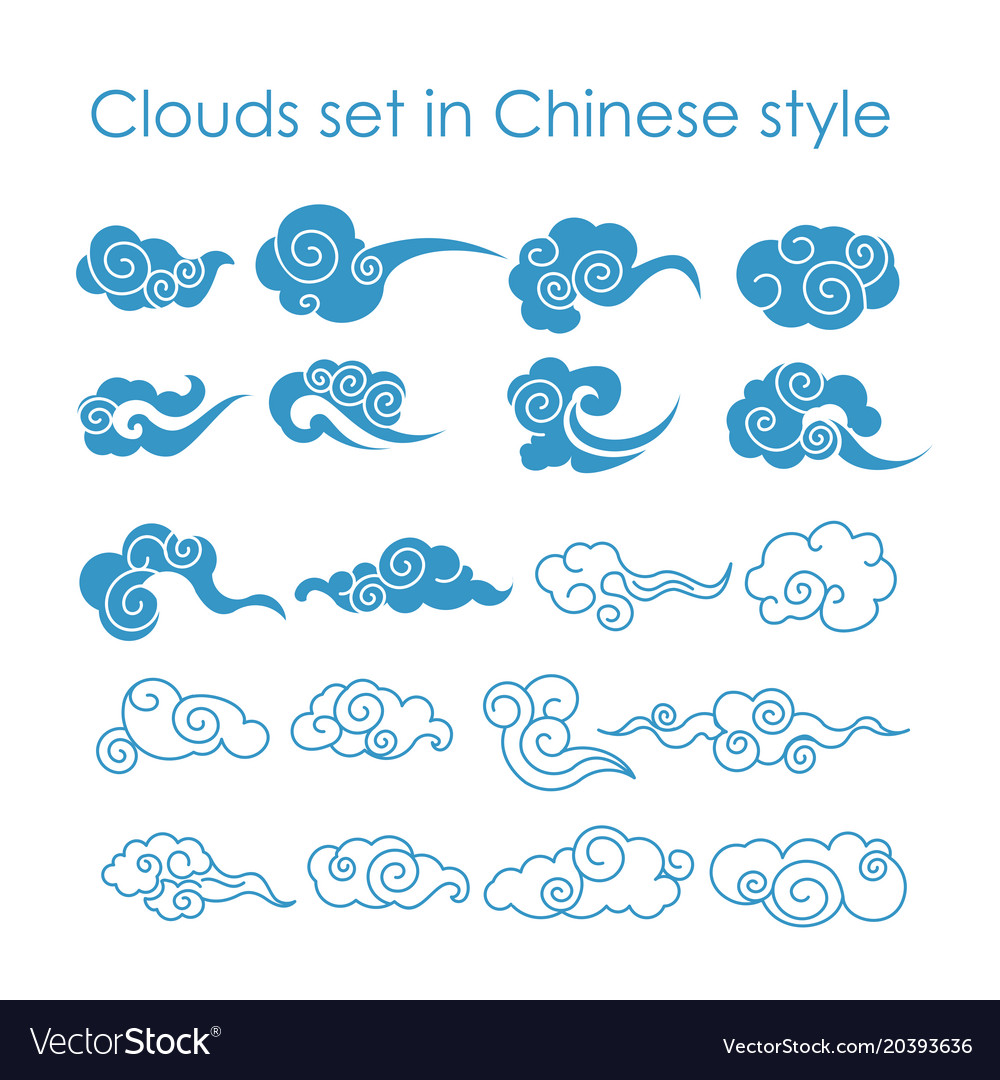 Collection of blue clouds