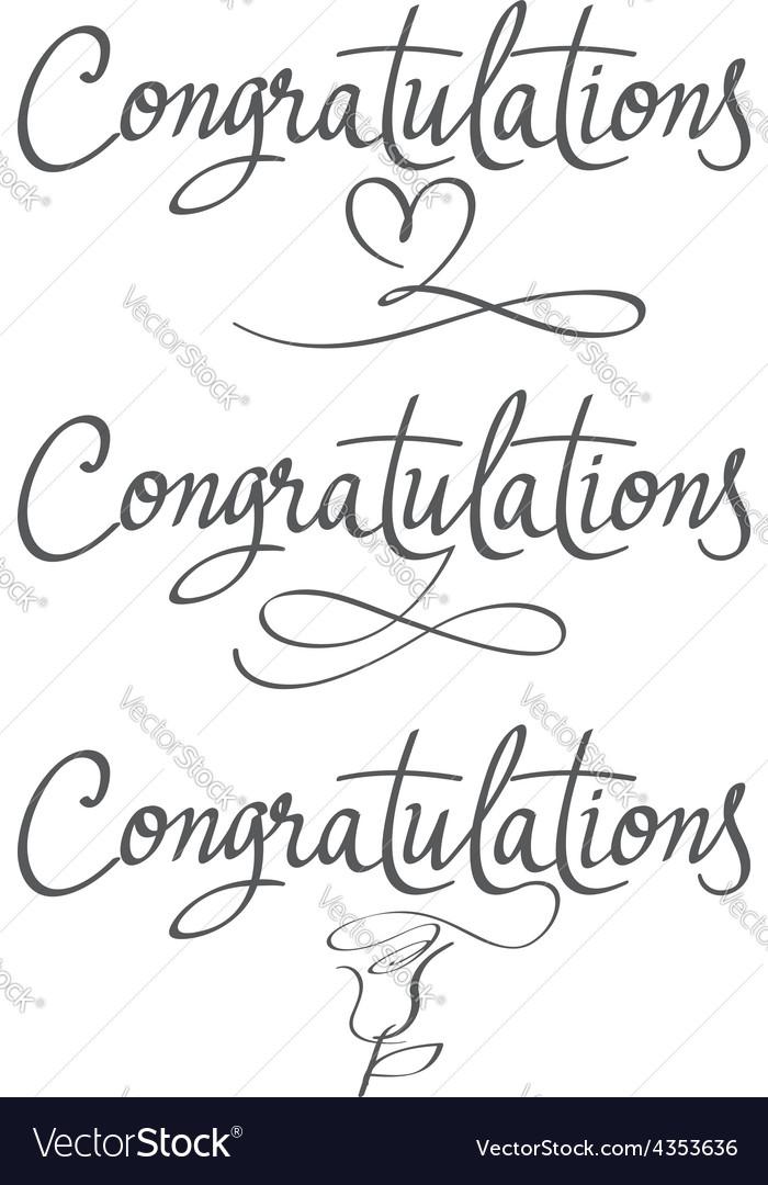 Design a set labels congratulations