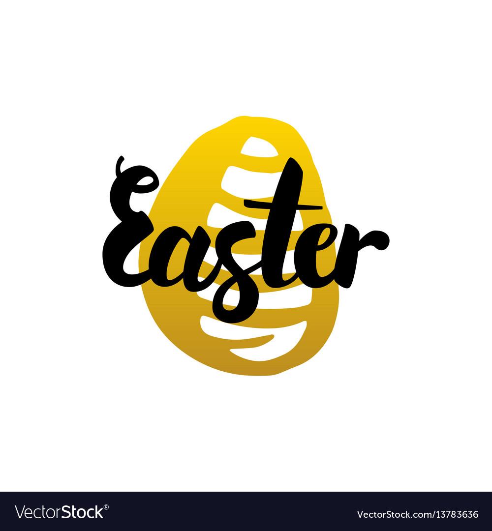 Easter handwritten calligraphy vector image
