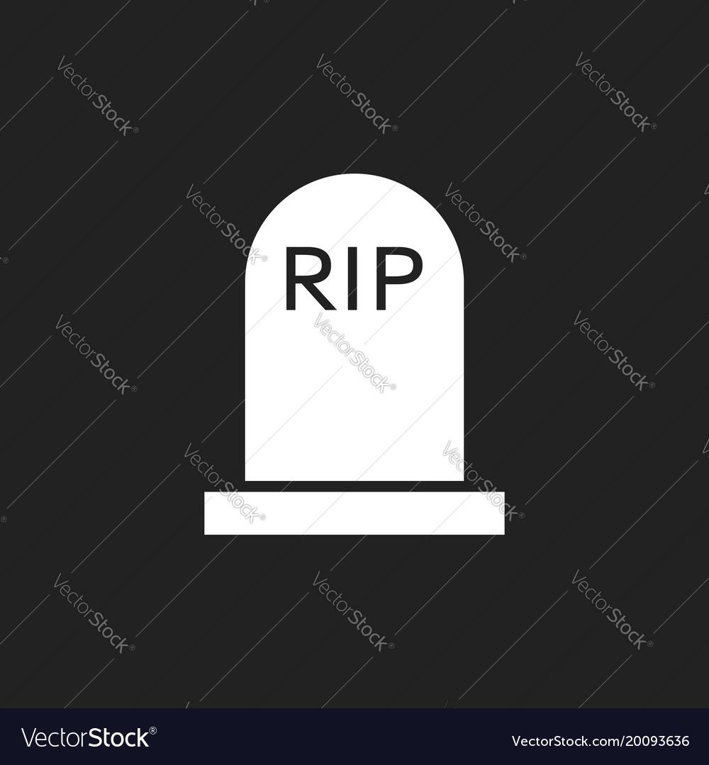 Halloween grave icon gravestone rip tombstone