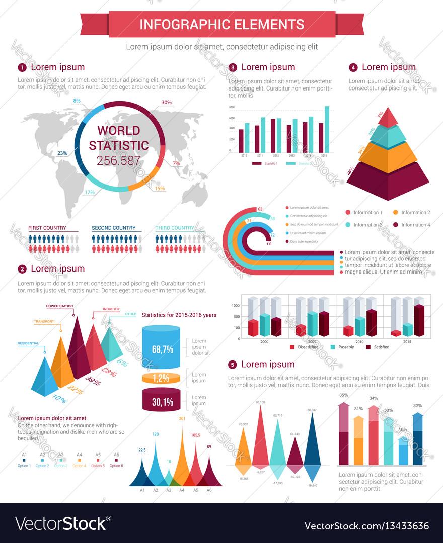 Infographic element set for presentation design