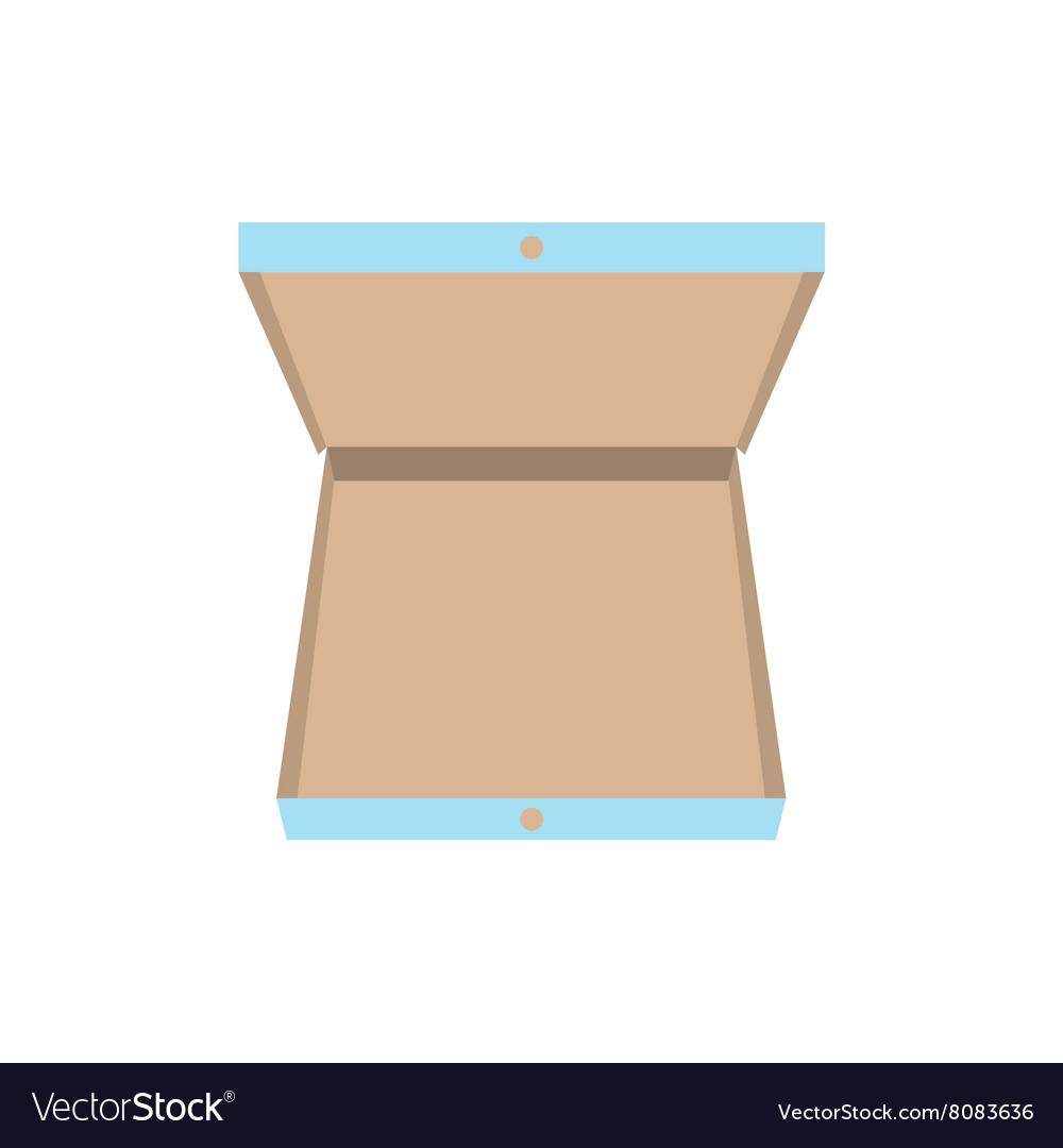Open pizza box icon