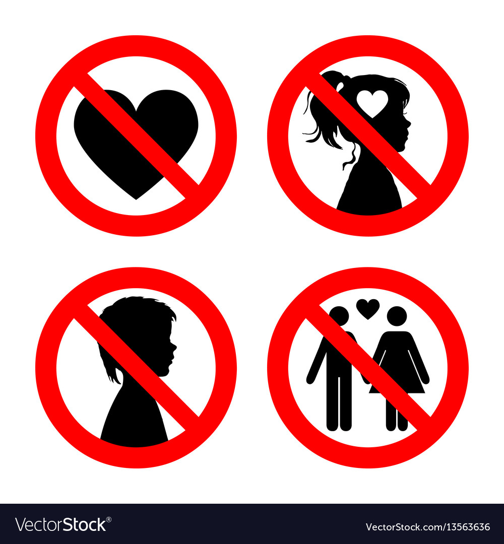 Prohibition sign icons collection set of