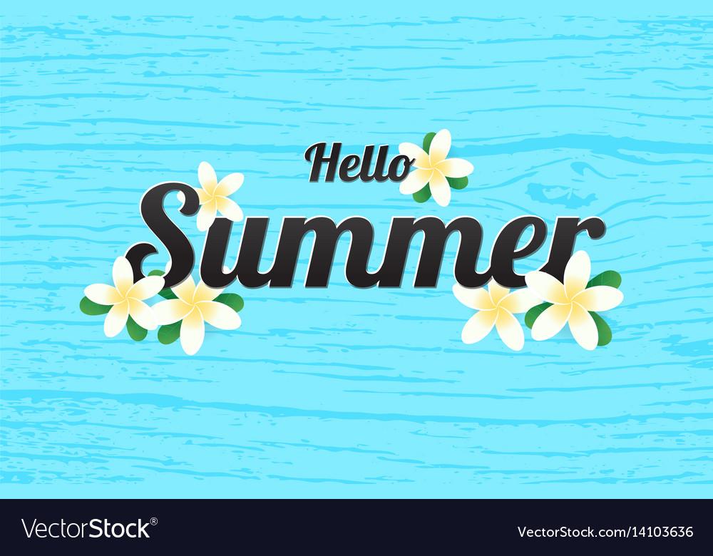 Summer greeting season with plumeria flowers or