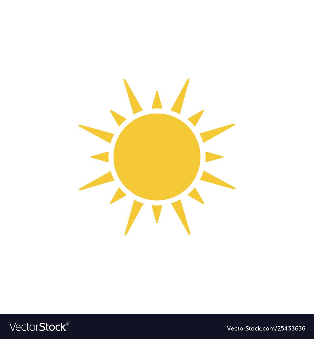 Sun icon - simple element