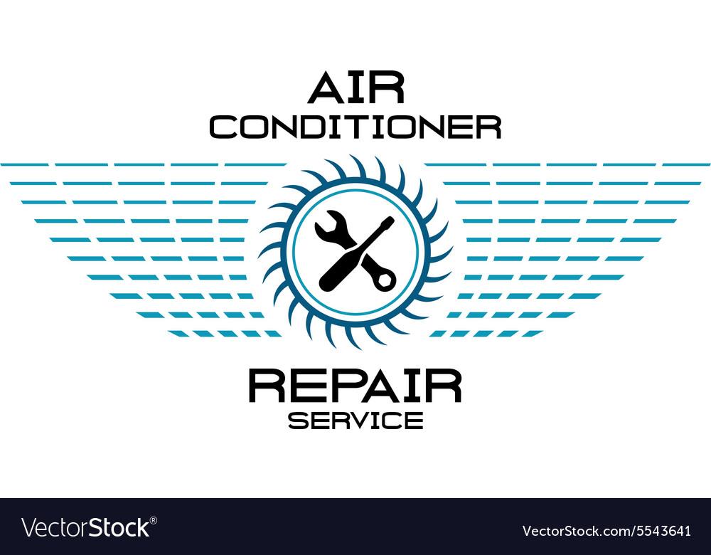 Air conditioner service logo