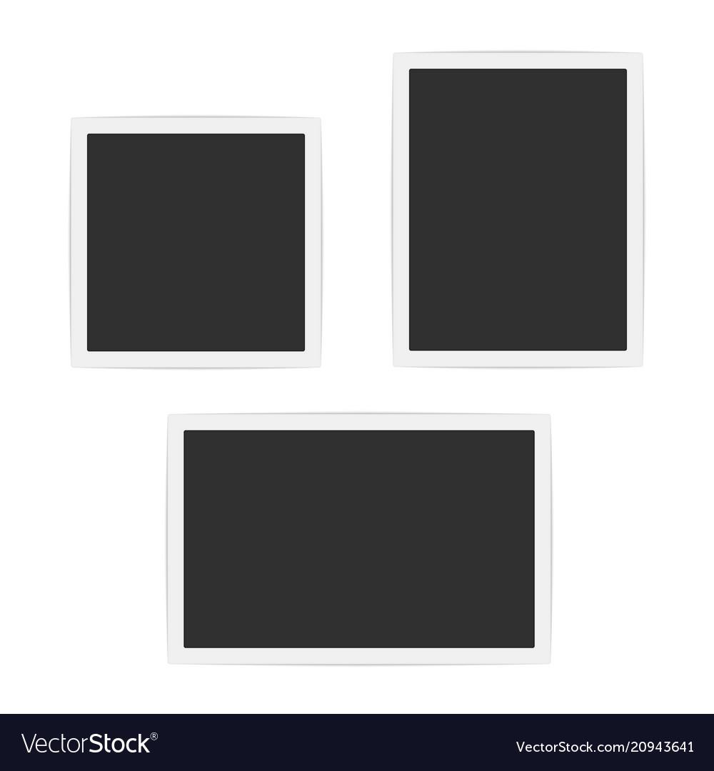 Blank photo frames set vector image
