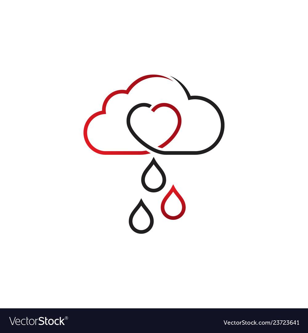 Cloud sky with heart shape