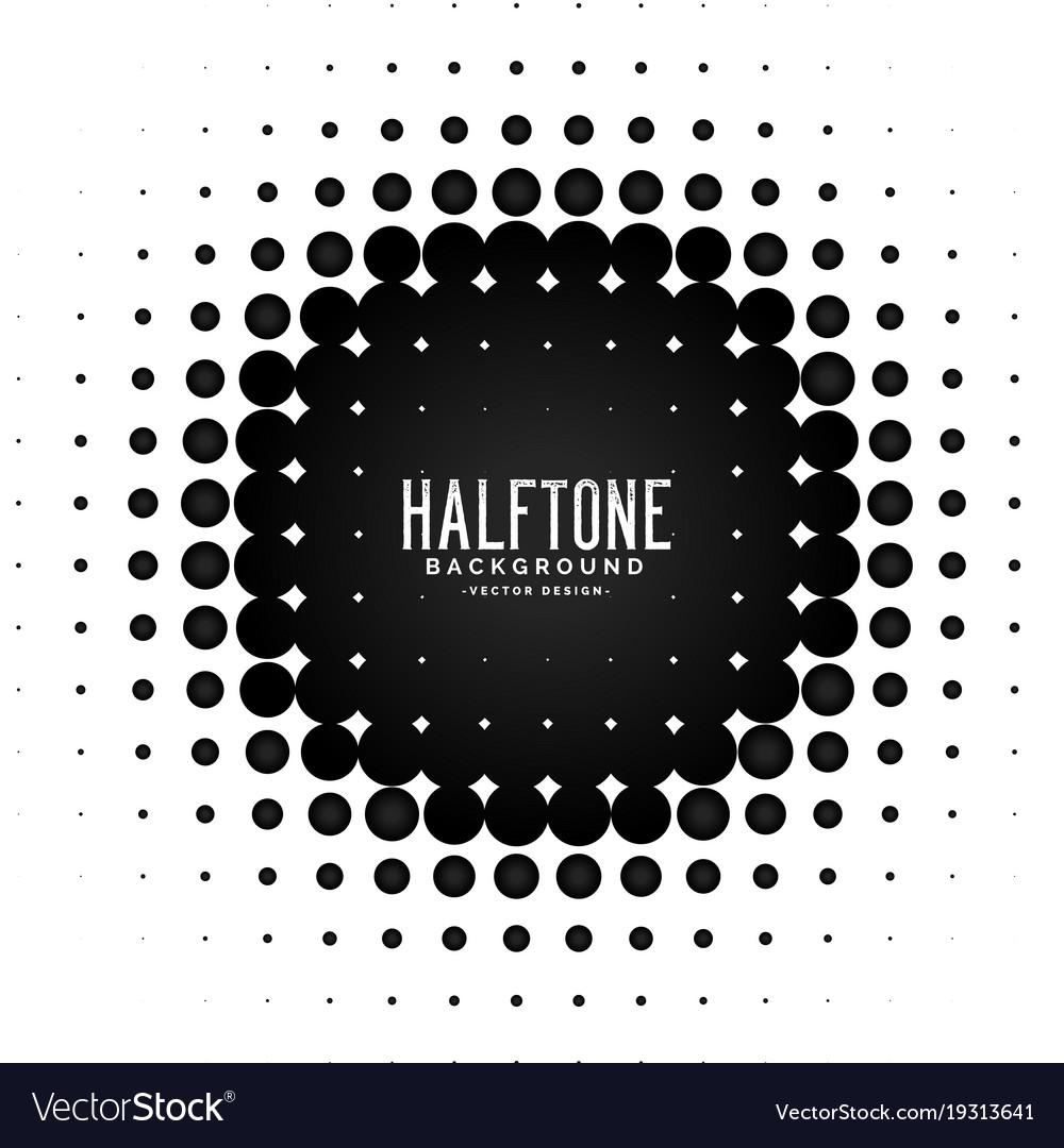 Halftone circle frame background
