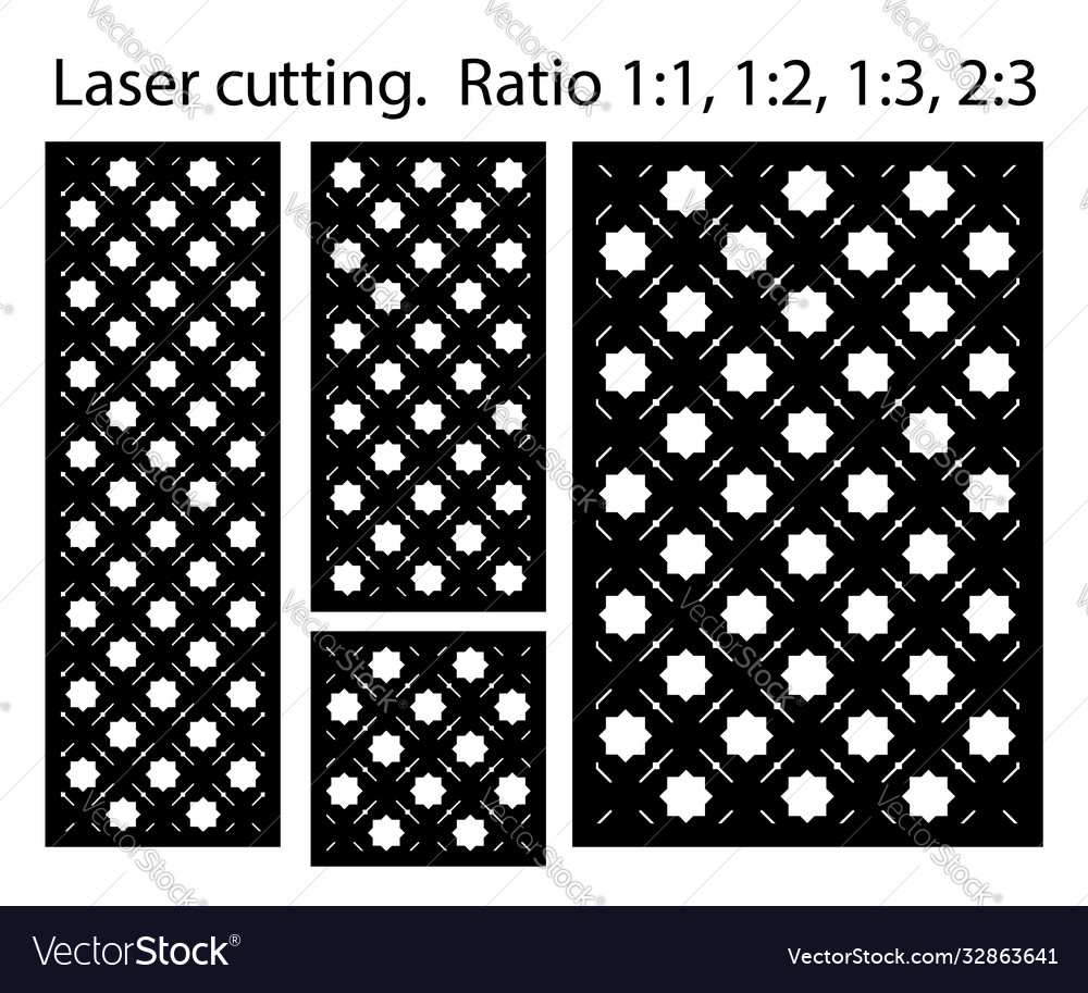 Laser pattern set decorative panels