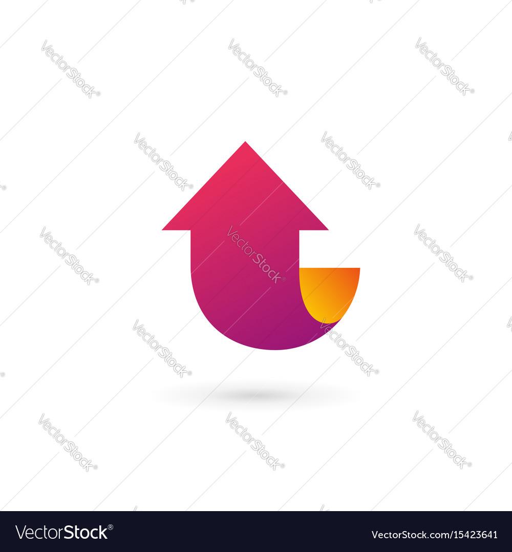 Letter l arrow logo icon design template elements