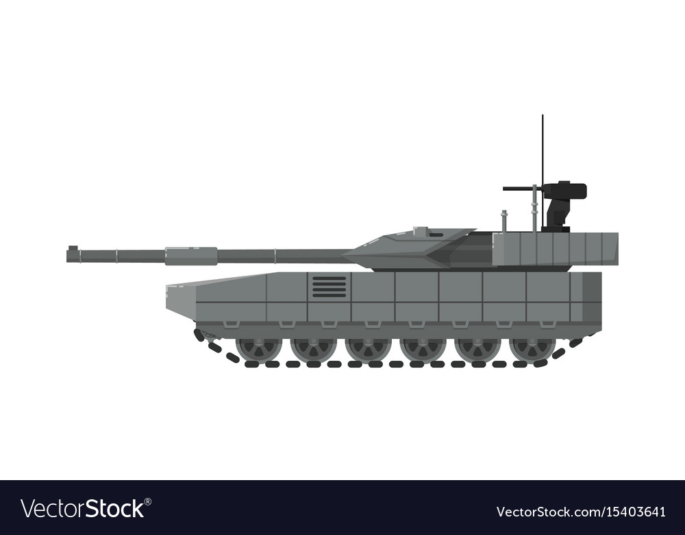 Modern army tank isolated icon