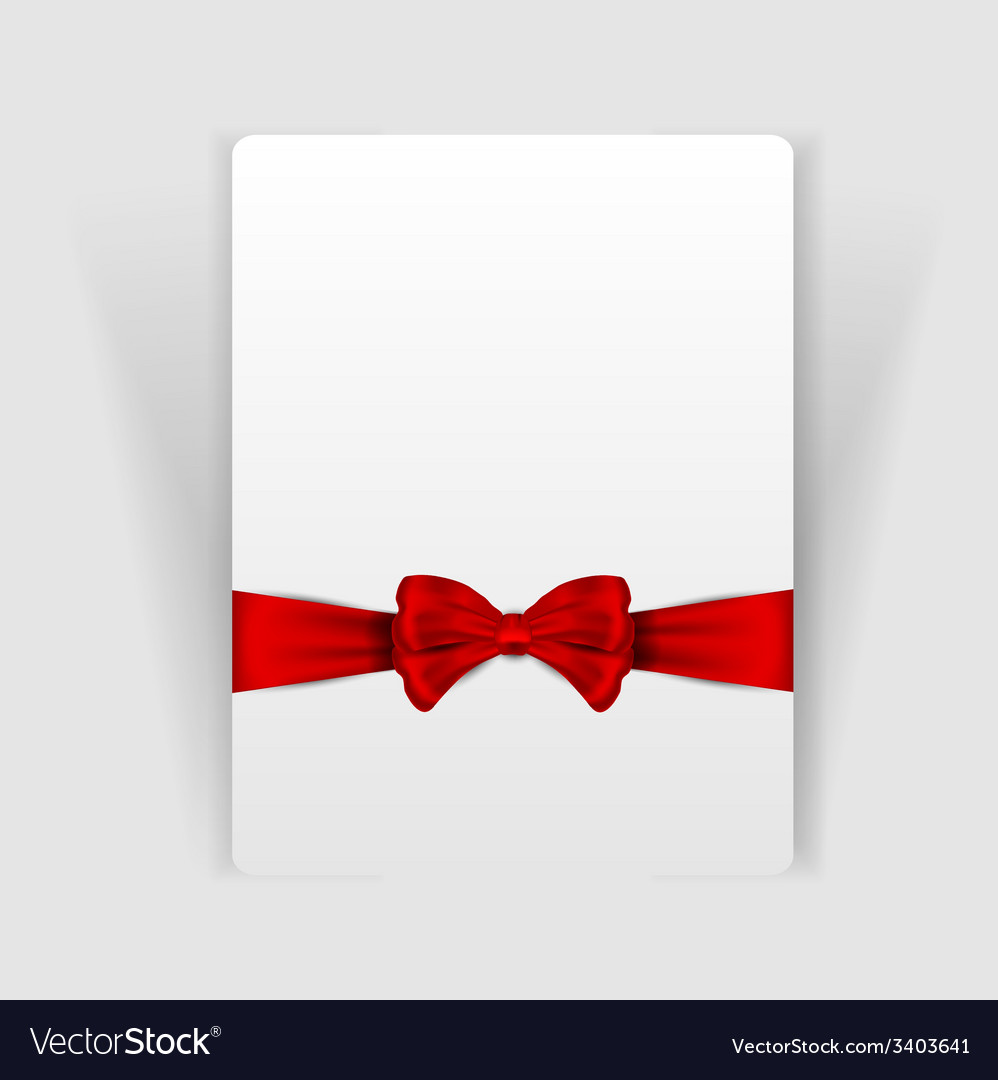 Nice red bow on the card