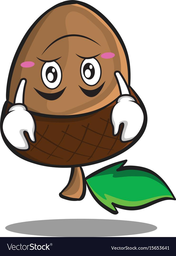 Upside down acorn cartoon character style