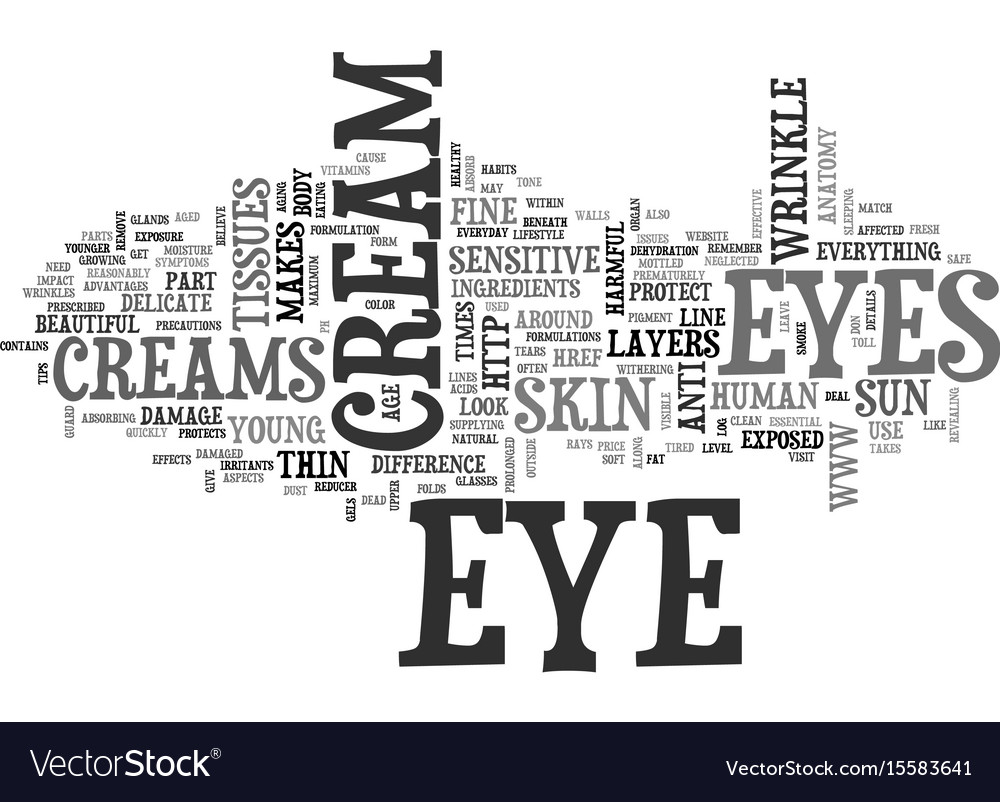 Why do we need eye creams text word cloud concept