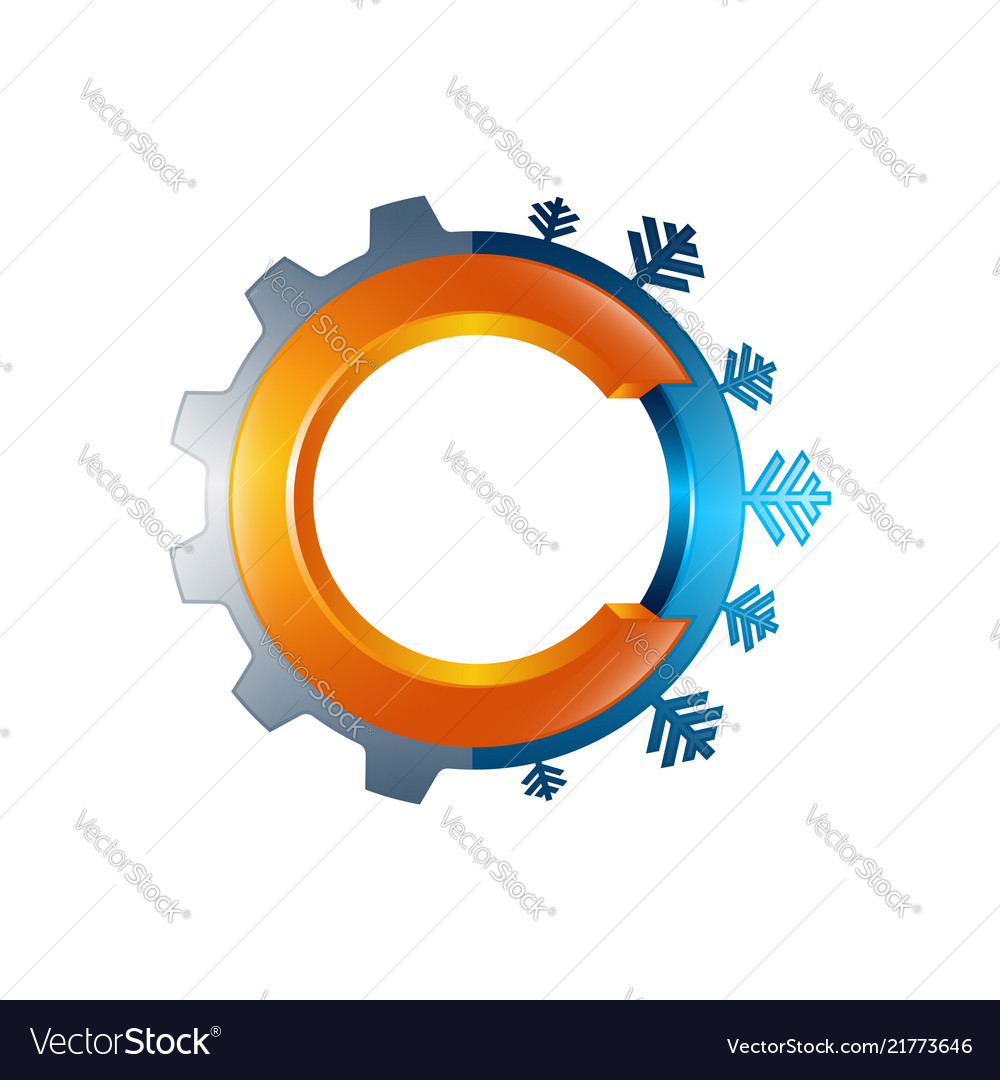 Air conditioning design arrow symbol for business