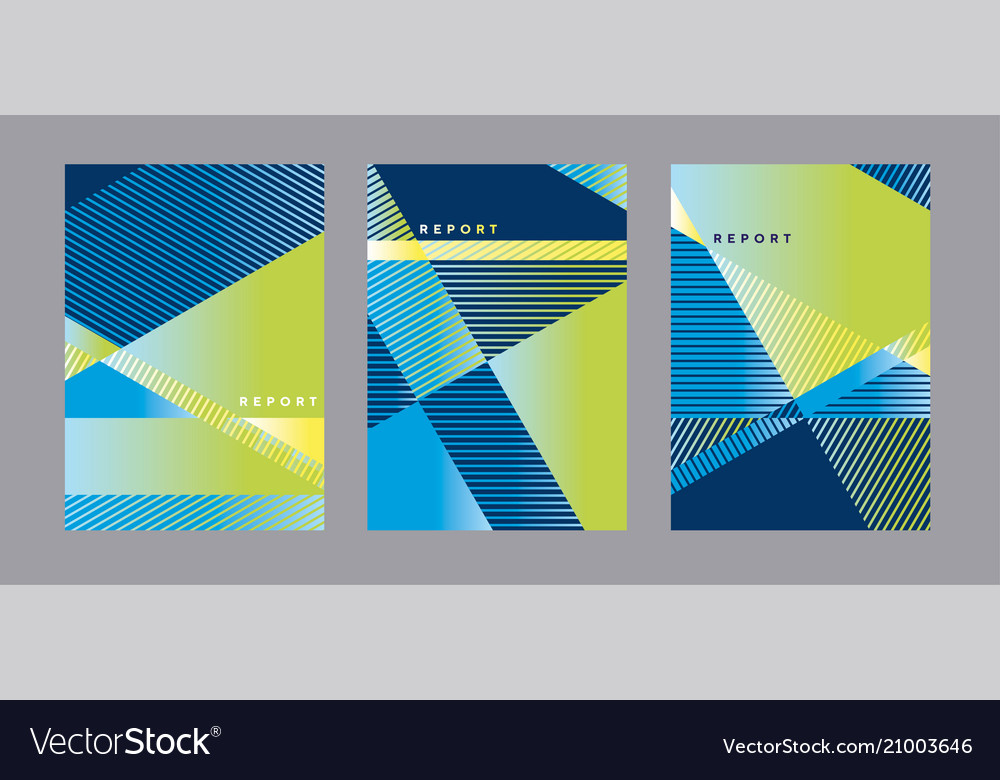 Blue and green geometric cover template