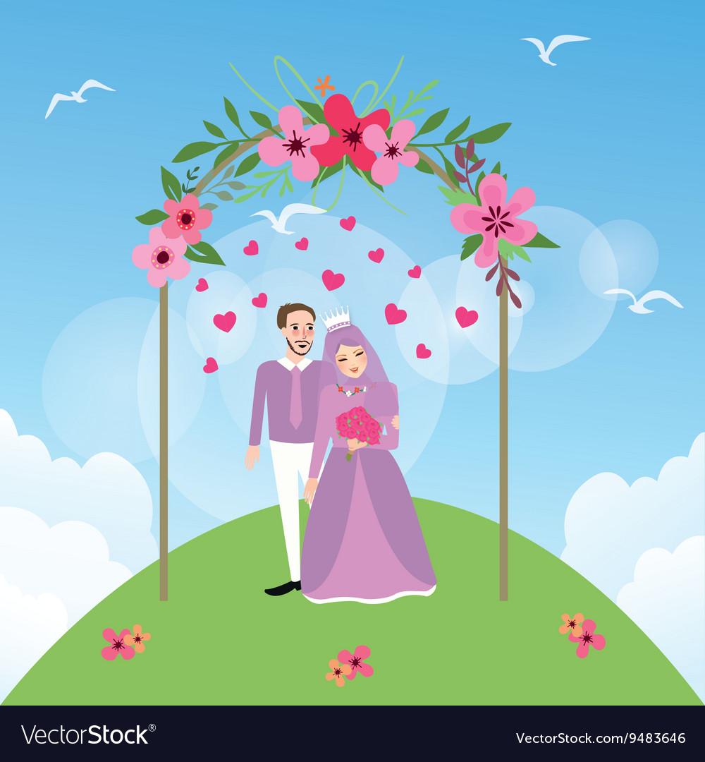 Couple married Islam woman girl wearing veil