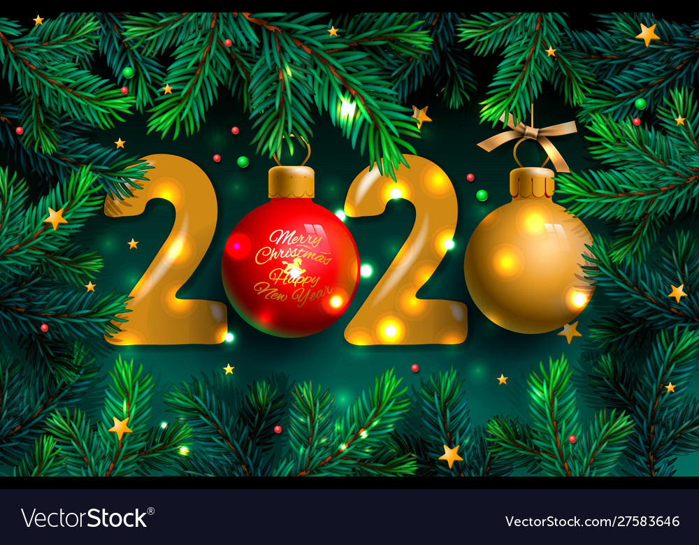 Happy new year 2020 template holiday