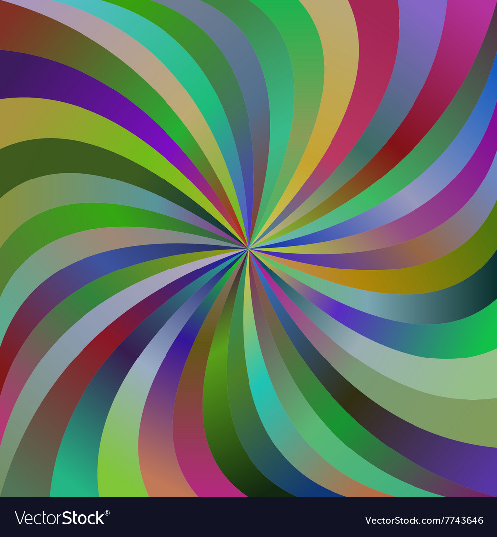 88d741f1e2 Multicolor abstract spiral ray design background Vector Image
