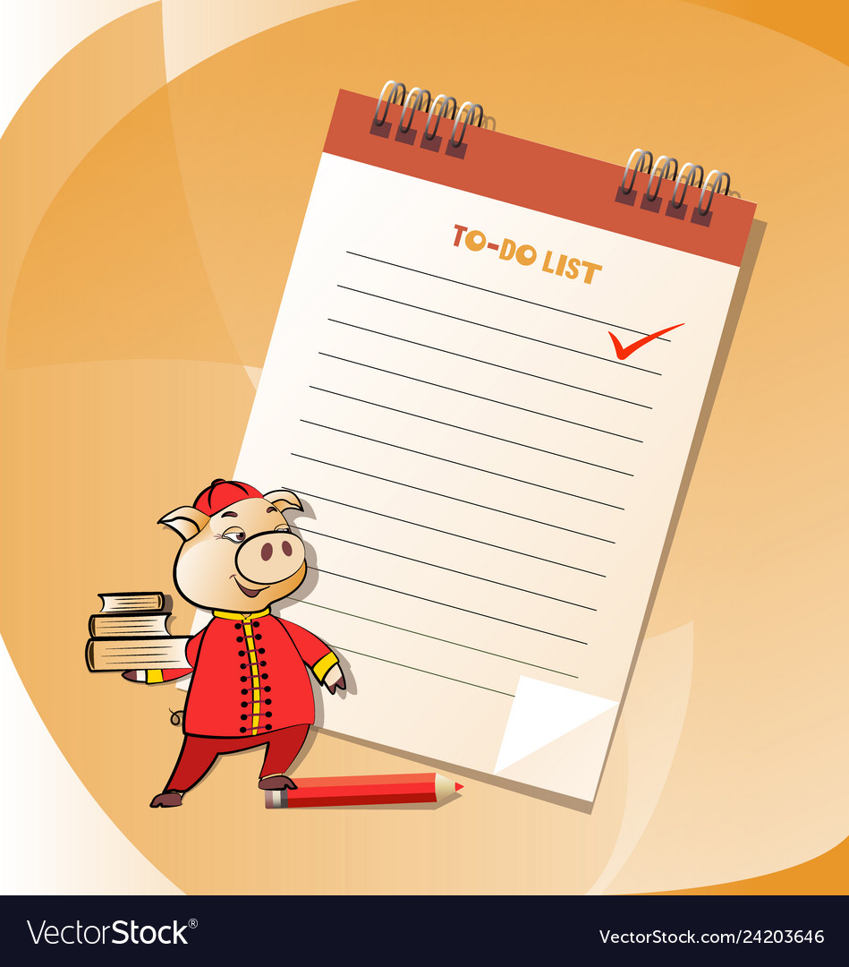 To-do list and business pig